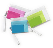 Feminine plastic wallets Royalty Free Stock Image