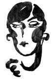 Feminine portrait. Painting by inc Stock Photos
