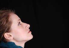 Feminine profile face Stock Image