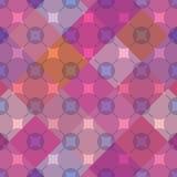 Feminine Rhombus Seamless Pattern_eps. Illustration of feminine colors of design rhombus with mix circles seamless pattern Royalty Free Stock Photo