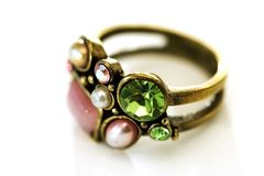 Feminine ring Royalty Free Stock Images