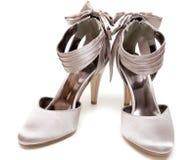 Feminine satin loafers Stock Images