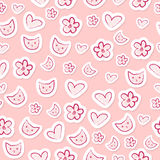 Feminine seamless pattern Royalty Free Stock Photos
