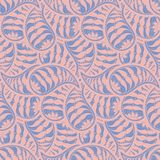 Orange and blue floral paisley seamless vector pattern royalty free illustration