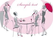 Feminine silhouette. Royalty Free Stock Image