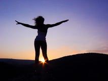 Feminine silhouette Stock Photography