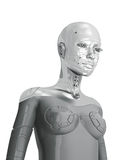 Feminine silver cyborg Royalty Free Stock Photography