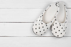 Feminine slippers Royalty Free Stock Images