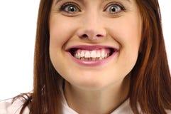 Feminine smile close up Royalty Free Stock Photo