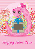Snake Gift Happy New Year_eps Stock Photography