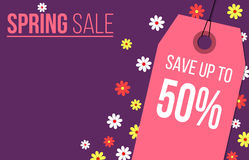 Feminine spring sale banner design Royalty Free Stock Image