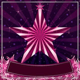 Feminine star card pink Stock Image
