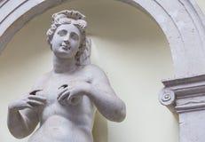 Feminine statue of Abundance. 300 years old statue of Abundance in an Italian park, no need of release Stock Image