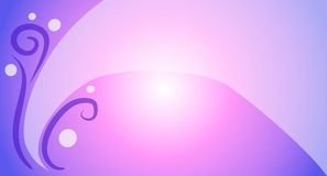 Feminine Swoosh Background 2. A decorative feminine background featuring a swoosh, swirls and circles in gradient pink and purple colors Royalty Free Stock Photography