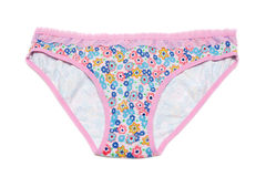 Feminine underclothes, color panties Stock Image