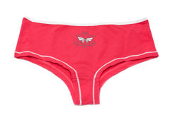 Feminine underclothes, red panties Royalty Free Stock Photography