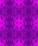 Feminine vintage damask. Romantic endless pink on purple design of filligree and damask for wallpaper, wrap, backgrounds or material Royalty Free Stock Photography