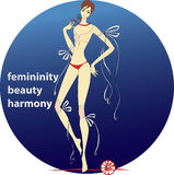 Femininity.beauty.harmony 库存照片