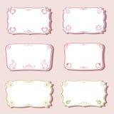 Femininity frames set. Stock Photography