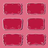 Femininity frames set. Stock Photography