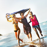 Femininity Girls Summer Beach Vacations Concept Royalty Free Stock Photography