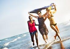 Femininity Girls Summer Beach Vacations Concept Stock Photography