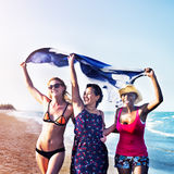 Femininity Girls Summer Beach Vacations Concept Royalty Free Stock Image