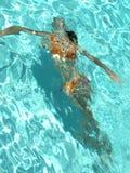 Femininity subaquático Imagens de Stock