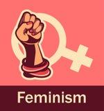 Feminism concept of female power Stock Images