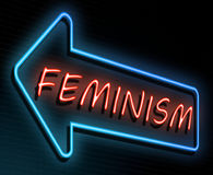 Feminism neon concept. Stock Photography