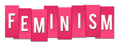 Feminism Pink Stripes Stock Image
