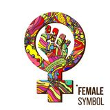 Feminism Symbol Vector. Feminism Power. LGBT Society. Female Icon. Feminist Hand. Girls Rights. Female Future Protest. Feminism Protest Symbol Vector. Feminism Royalty Free Stock Photo