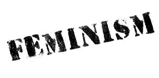 Feminism rubber stamp. Grunge design with dust scratches. Effects can be easily removed for a clean, crisp look. Color is easily changed Royalty Free Stock Image