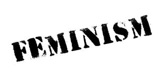 Feminism rubber stamp Stock Photography