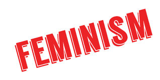 Feminism rubber stamp Stock Image