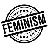 Feminism stamp typ. Feminism stamp. Typographic label, stamp or logo Royalty Free Stock Image