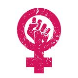 Woman Symbol Vector. Feminism Power. Female Icon. Feminist Hand. Girls Rights. Women Resist. Isolated Illustration. Feminism Symbol Vector. Feminism Power. LGBT Royalty Free Stock Image