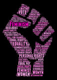 Feminism Word Cloud Royalty Free Stock Photo