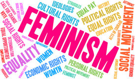 Feminism Word Cloud. On a white background Stock Images