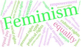 Feminism Word Cloud. On a white background Stock Image