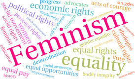 Feminism Word Cloud Royalty Free Stock Photography