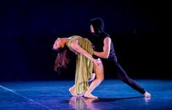 Feminisme 8-handeling 2: Dromenland van de driehoeks het relatie-moderne Dans stock fotografie