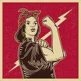 Feminismo da propaganda ilustração royalty free