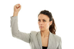 Feminist with her fist up Stock Image