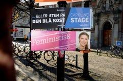 FEMINIST INITIVATE. Copenhagen /Denmark - 06 November  2017.   Danish feminist ininitialiv poster in city .    Photo.Francis Dean/Dean Pictures Stock Photo