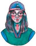 Feminist på de vanliga gatorna av Mexico royaltyfri illustrationer