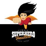Feminist super hero background template. NEPS 10 Royalty Free Stock Photos