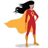 Feminist superhero isolated on white. Feminist superhero Royalty Free Stock Photo