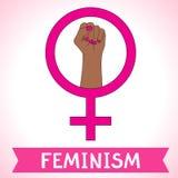 Feminizmu symbol Walcząca pięść kobieta Obraz Stock