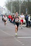 Femke van Hest. Near the finish of the City Pier City Loop 2009, half marathon in the Hague stock image
